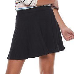 Juniors' SO® Faux Wrap Skater Skirt