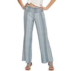 d157ceb83ebe3 Juniors  SO® Linen Beach Pants. Pink Multi Blue Stripe
