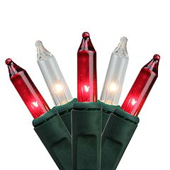 4' x 6' Red & White Mini Net Style Indoor / Outdoor Christmas Lights