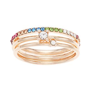 LC Lauren Conrad Rainbow 3 Ring Set