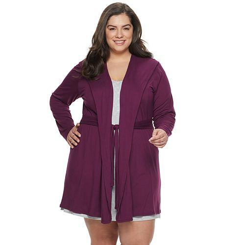 Plus Size Jockey® Natural Beauty Hooded Robe