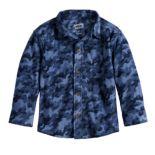 Baby Boy Jumping Beans® Camouflaged Fleece Button Down Shirt