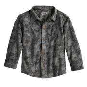 Baby Boy Jumping Beans® Camouflaged Fleece Button Down Shirt