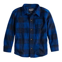 Baby Boy Jumping Beans® Checked Fleece Button Down Shirt