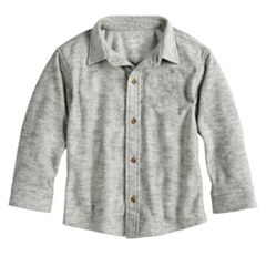 Baby Boy Jumping Beans® Fleece Button Down Shirt
