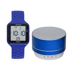 Armitron Digital Chronograph Sport Watch & Wireless Bluetooth Speaker Set - 40-8448BLBLST