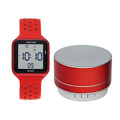 Armitron Digital Chronograph Sport Watch & Wireless Bluetooth Speaker Set - 40-8448RDRDST
