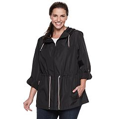 5963cf16017c2 Plus Size d.e.t.a.i.l.s Parka In A Pocket Packable Anorak Jacket