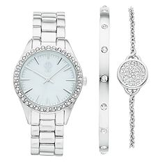 Jennifer Lopez Crystal Watch & Bracelet Set
