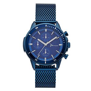Marc Anthony Men's Blue Mesh Band Watch