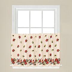 Saturday Knight, Ltd. Holiday Elegance Tier Curtain Pair