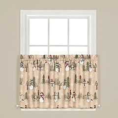 Saturday Knight, Ltd. Snowman Land Tier Curtain Pair