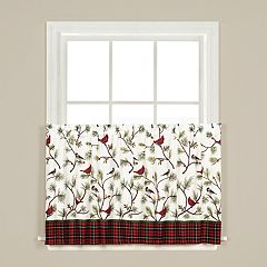 Saturday Knight, Ltd. Winter Birds Tier Curtain Pair