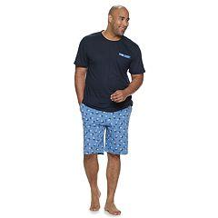 Big & Tall Cuddl Duds Tee & Sleep Shorts Set