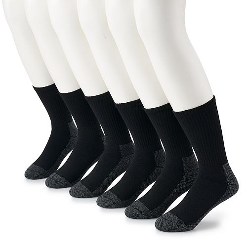 e0a8c92ad Men's Fruit of the Loom 6-pack Cushioned Work Gear Crew Socks