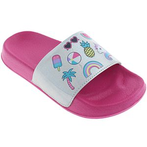 1d5e4cf876cd Girls 4-12 Elli by Capelli Rainbow   Unicorn Slide Sandals