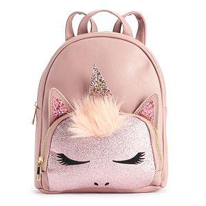 6038b511e8 OMG Accessories Glittery Rainbow Unicorn Mini Backpack. (1). Sale