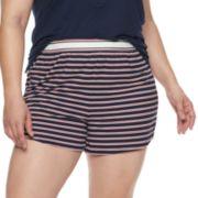 Plus Size Jockey® Retro Striped Pajama Shorts