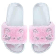 Girls 4-12 Elli by Capelli Kitty Cat Slide Sandals