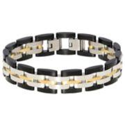 Men's LYNX Tri-Tone Stainless Steel Link Bracelet