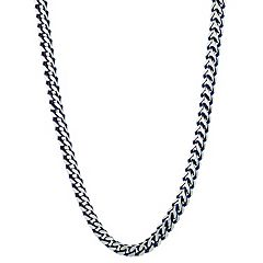 Men's LYNX Blue Ion Plated Stainless Steel Foxtail Chain Necklace - 22 in.