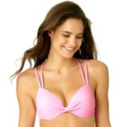Juniors' California Sunshine Bust Enhancer DD-Cup Bikini Top