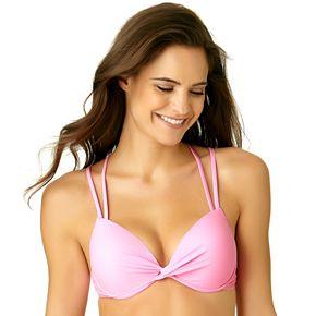 Juniors' California Sunshine Bust Enhancer DD-Cup Bikini Top