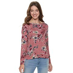 Juniors' Rewind Lace-Up Shoulder Sweatshirt