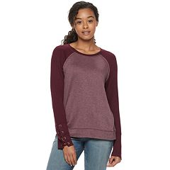 Juniors' Rewind Lace-Up Cuff Sweatshirt