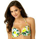 Juniors' California Sunshine Push-Up DD-Cup Halter Bikini Top