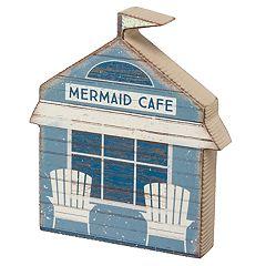 'Mermaid Cafe' Coastal Table Decor