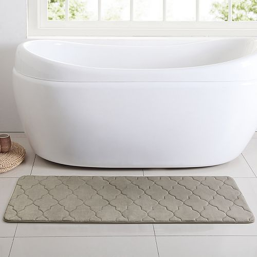 VCNY Memory Foam Bath Mat Runner