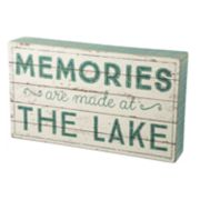 """Memories Are Made At The Lake"" Box Sign Art"
