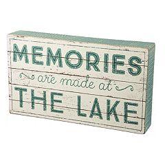 'Memories Are Made At The Lake' Box Sign Art