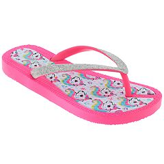 Girls 4-12 Elli by Capelli Unicorn Thong Flip Flop Sandals