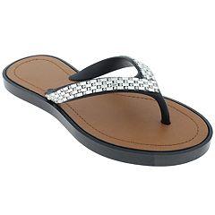 d6981b7c7 Girls 4-12 Elli by Capelli Rhinestone Thong Flip Flop Sandals