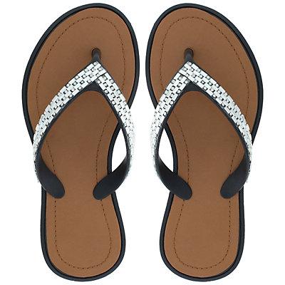 Girls 4-12 Elli by Capelli Rhinestone Thong Flip Flop Sandals