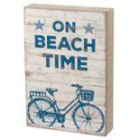 """On Beach Time"" Box Sign Art"