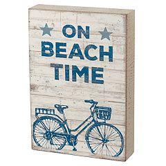 'On Beach Time' Box Sign Art