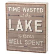 """""""At The Lake"""" Box Sign Art"""