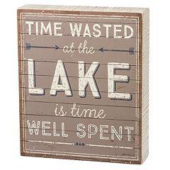 'At The Lake' Box Sign Art
