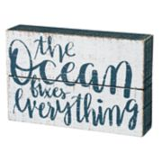 """The Ocean Fixes Everything"" Box Sign Art"