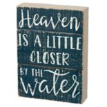 """By The Water"" Coastal Box Sign Art"