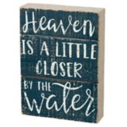 """""""By The Water"""" Coastal Box Sign Art"""