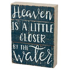 'By The Water' Coastal Box Sign Art