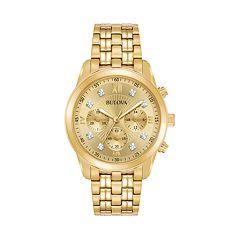 Bulova Men's Diamond Accent Stainless Steel Chronograph Watch - 97D114