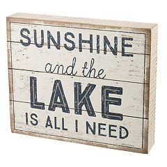 'Sunshine And The Lake' Box Sign Art