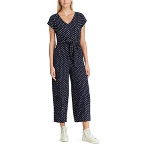 Women's Chaps Dot Capri Jumpsuit