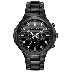 Bulova Men's Diamond Accent Stainless Steel Chronograph Watch - 98D147