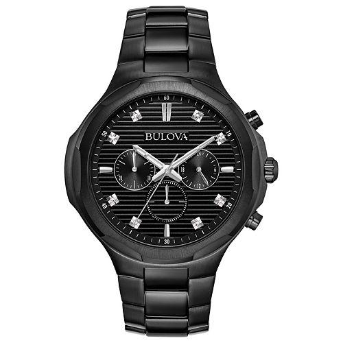 Bulova Men's Diamond Accent Stainless Steel Chronograph Watch - 98D147